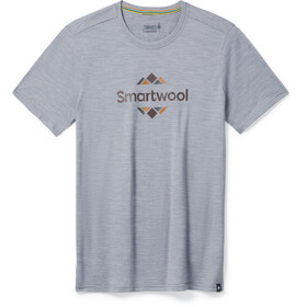 Smartwool Merino Sport 150 Logo T-Shirt Homme, grey heather